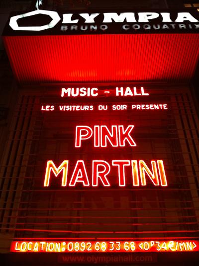 PINK MARTINI à l'Olympia : Octobre 2011